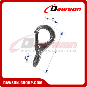 Stainless Steel Fixed Eye Snap Hook