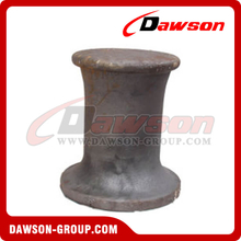 8 inch Cast Steel Single Bitt Thru Deck Bollard