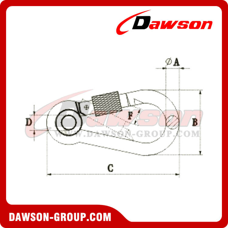 Snap Hook With Eyelet And Screw - Stainless Steel AISI316 AISI304 - Dawson Group Ltd. - China Manufacturer, Supplier, Factory, Exporter