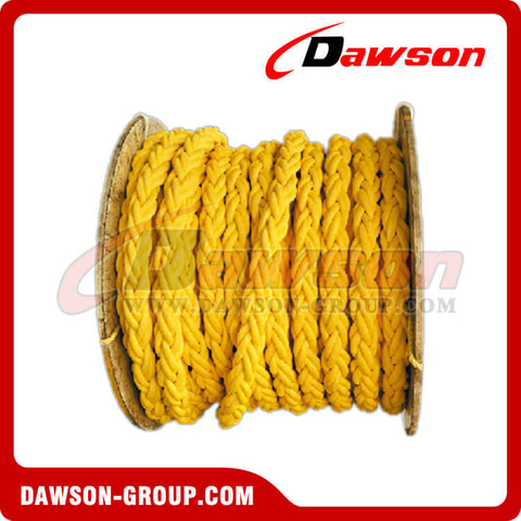 8 Strands Yellow Polypropylene Rope