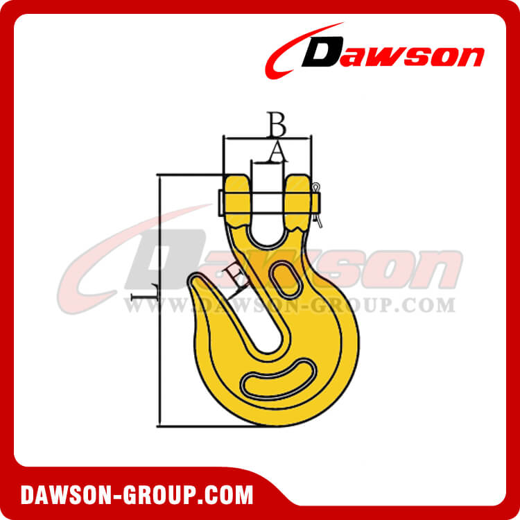 DS123 G70 AND G43 CLEVIS GRAB HOOK DAWSON-GROUP