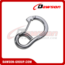 Stainless Steel Spring Hook with Flat Type