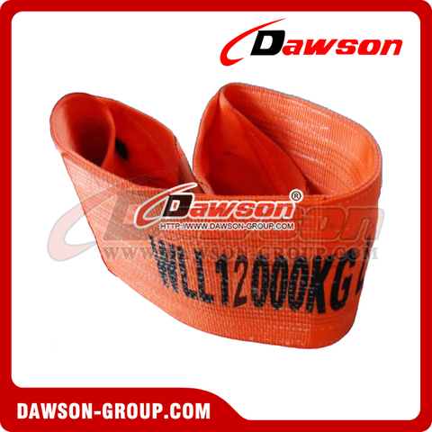 WLL 12 Ton Polyester Webbing Slings - Lifting Slings