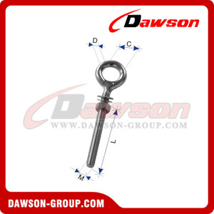 Stainless Steel Welded Eye Bolt with Double Washer & Nut