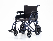 YJ-028B Steel Transit Wheelchair with height adjustable armrest for Elderly People