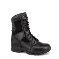 Side zipper police tactical boots
