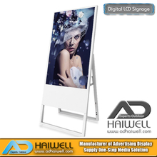 "43 ""Ultra Slim Portable Digital Poster Pantalla LCD para interiores Anuncios Tableros"