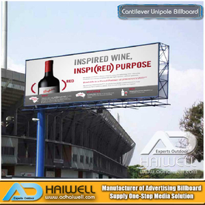 Custom Design Cantilever Werbung Unipole Billboard in China Lieferanten