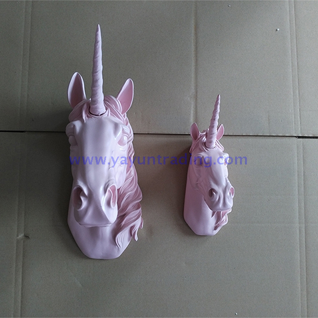 wall mounted resin unicorn head