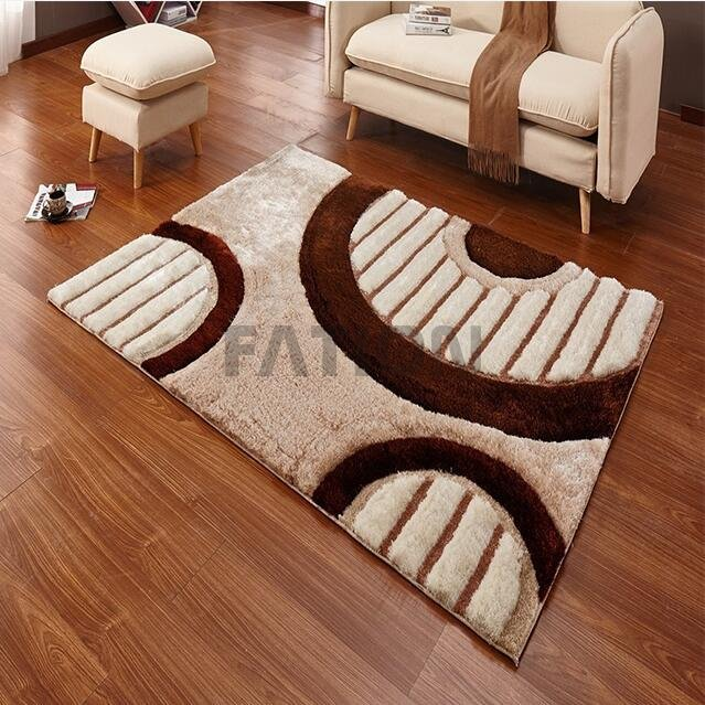 Simple 3D Design Home Area Rug Thick Shag Carpet