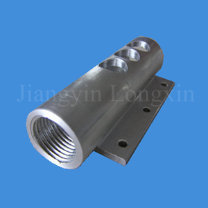 Sliver Anodized Tube with Machining