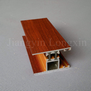 Aluminum Profile for Windows with Wooden Print