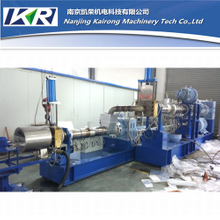 Two Stage Single Screw Extruder for Waste Plastic Compound Machine PE Film Recycled Granulating Line