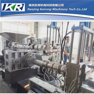 Two Stage Plastic Compound Recycling Single Screw Pellet Extruder Machine