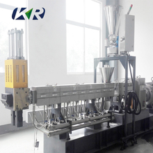 PP PE PVC Granule Making Extruder , Caco3 Filling Masterbatch Plastic Extrusion Machine