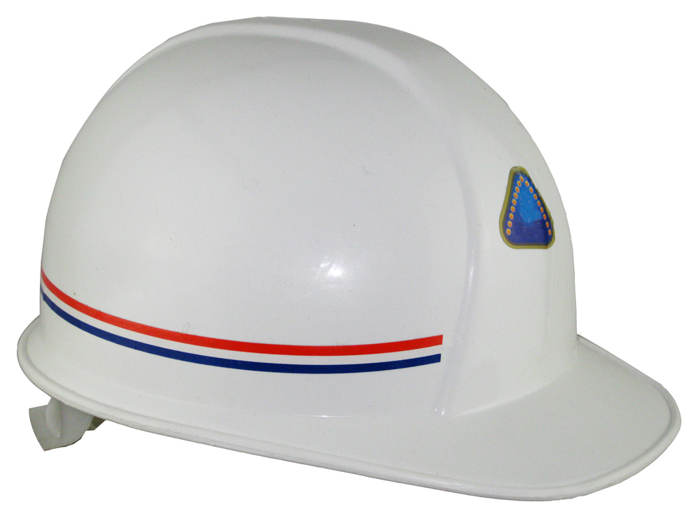 White PE materials mining safety hard hat