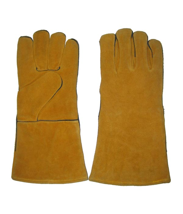 1311 Yellow fully lined welder work safety gloves