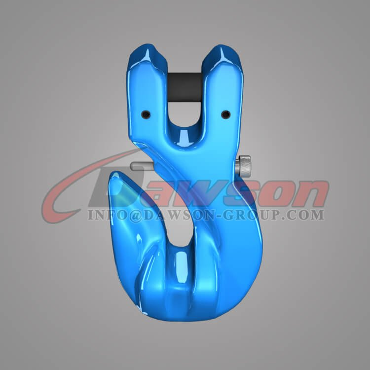 Grade 100 Special Clevis Grab Hook with Safety Pin, WLL 4T Alloy Steel Clevis Hook for Chains - China Factory, Exporter - Dawson Group Ltd.
