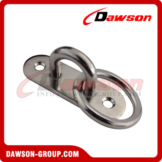 Stainless Steel Oval Eye Plate with Ring