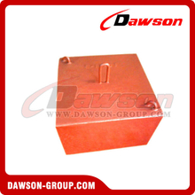 Orange Concrete Sinker for Offshore Platform / Mooring System