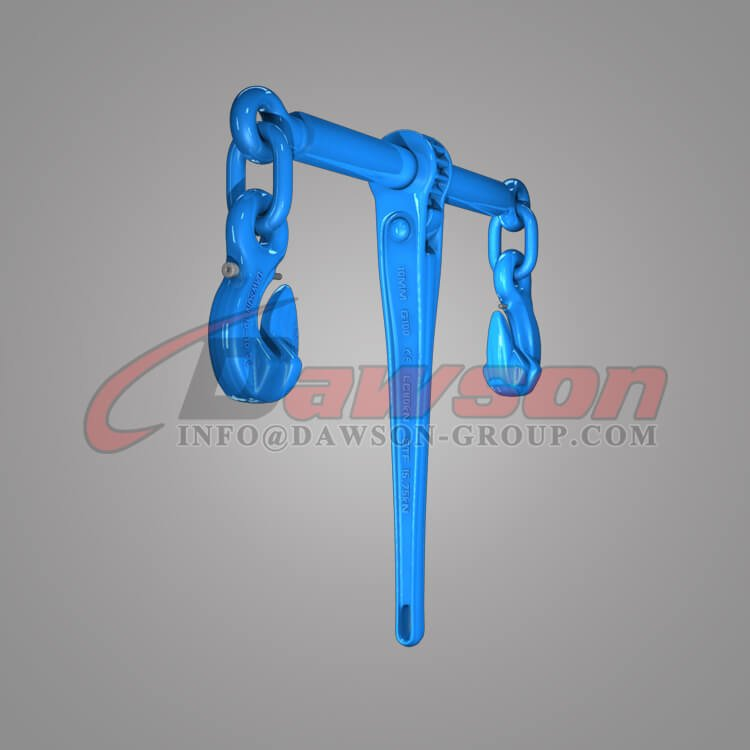 Grade 100 Forged Steel Ratchet Type Load Binder with Safety Hooks for Lashing - Dawson Group Ltd. - China Manufacturer