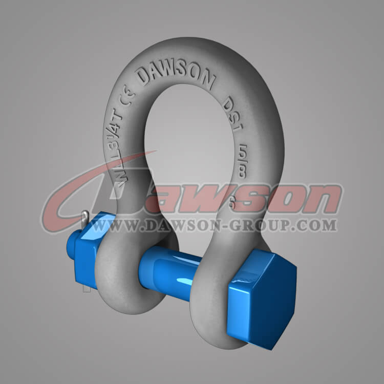 Dawson Brand Hot Dip Galvanized US Type Bow Shackle with Safety Pin - China Exporter