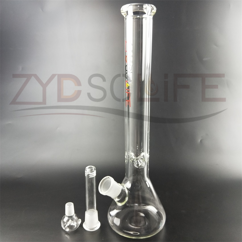 Transparent Straight Body Water Pipe Glass Smoking Pipe