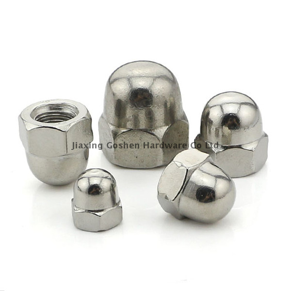 Stainless steel hexagon domed cap nut DIN1587