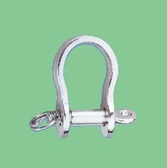 S/S STAMP BOW SHACKLE WITH RING