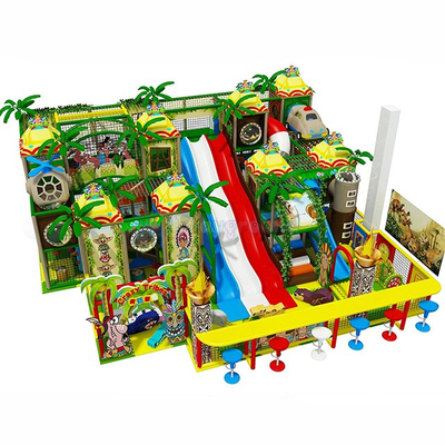 Jungle Theme Kids Soft Play Structure with Big Slide