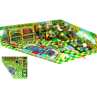 Jungle Style Amusement Park Soft Children Indoor Playground with Rope Course