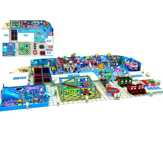 Ocean Themed Multifunctional Indoor Amusement Park Equipment with Trampoline & Ball Pit