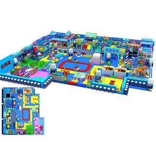 Ocean Themed Amusement Park Kids Soft Indoor Playground with Handwork Area