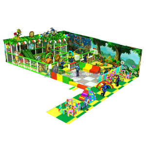 Jungle Themed Customized Kids Soft Indoor Playground with Toddler Area