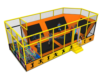 Amusement Park Small Trampoline Park for Children with Ball Pit