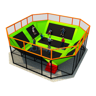 Galvanized Steel + Spring + PP Materials Small Trampoline Park