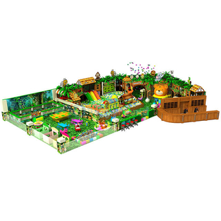 Jungle Theme Adventure Children Indoor Playground Equipment with Ball Pit