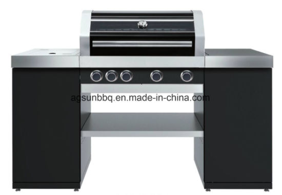 4b Outdoor Island Gas Barbecue Grill