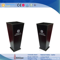 Sa8000 autid manufacturer polyester material leather cheap umbrella stand