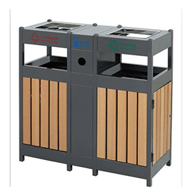 Rubbish Bin for Outdoor with Wooden Material HW-307