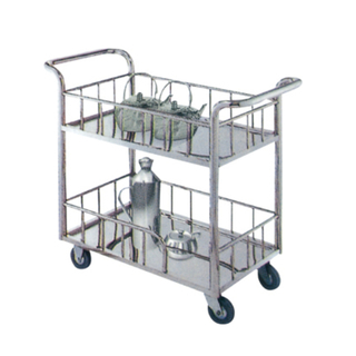 Stainless Steel Restaurant Service Trolley with Wheels (FW-68)