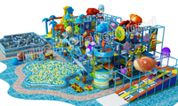 ball pool with roller slide of indoor soft playground for kids 7014A