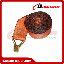 4 inch Custom Winch Strap with Wire Hook and Edge Protector