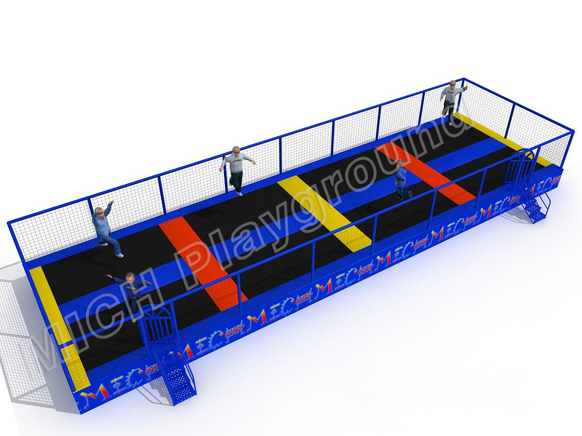 Mich indoor trampoline park design for amusement 5109a for Indoor trampoline park design manufacturing