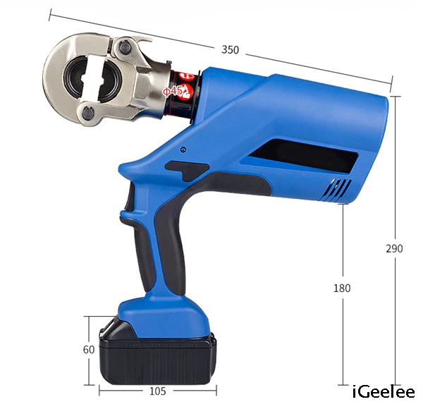 Electric Hydraulic Power Crimping Tool EZ-300 for Terminals Range Up To 300mm2, Head Rotates 350°