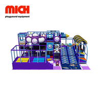 Purple Indoor Soft Playground dengan Donat Slide Equipment for Children