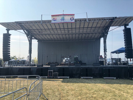 Sanway Audio VERA 36 line array and KS28 subwoofer provided a wonderful performance to 38th Annual Belize Day.jpg