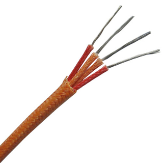 Fiberglass insulated thermocouple extension wire-- Duplex pairs