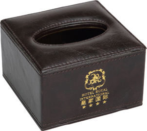 Guest Room Square Tissue Box, Hotel Supplier (KW-101A)