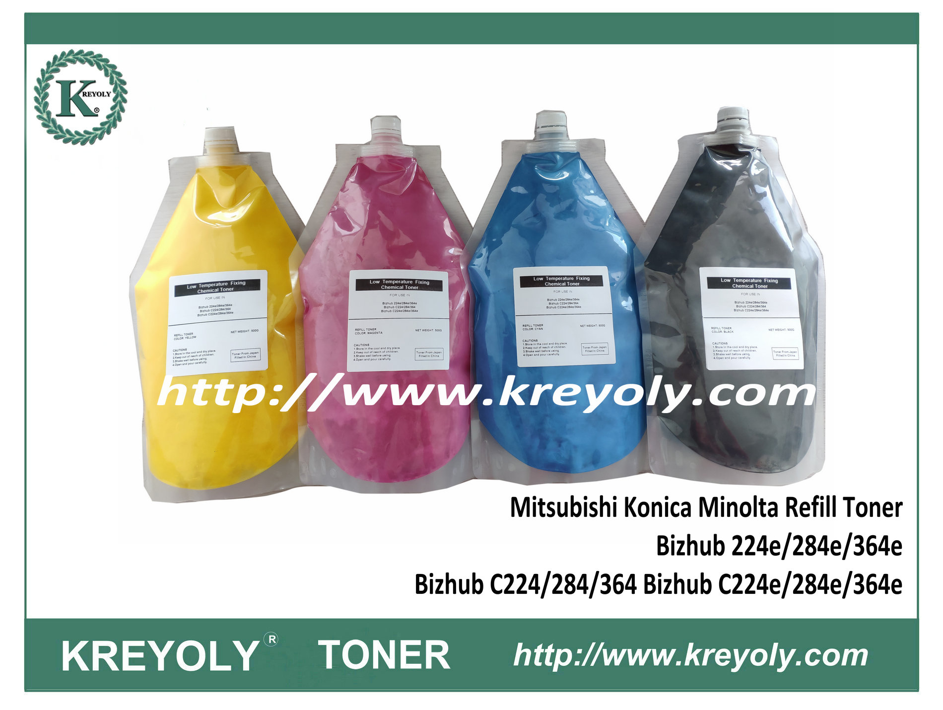 Mitsubishi Toner Refill Powder Konica Minolta Bizhub C224/284/364